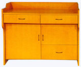 Mobiliário escolar de alta qualidade Mesa de pêndulo de madeira, mesa de pódio de madeira