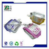 Bolsa reutilizable de la leche de la tuerca de la categoría alimenticia con el canalón