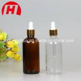 Frascos de petróleo essencial do vidro da alta qualidade com o tampão do alumínio de Goldern