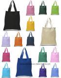 Produce OEM producto marcado promocional de algodón coloridas bolsas de lona bolsa de mano