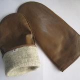 Les adultes de l'hiver main chaude bracelet cuir Gants hiver mitaine