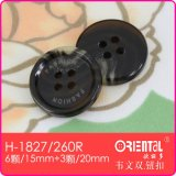 Il Polyester Imitation Horn 4-Holes Coat Button