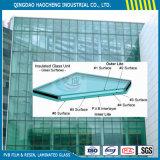Толщиные 6.38 mm прокатанного стекла с ясным прослойком PVB