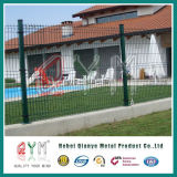 Treillis soudés en acier recouvert de PVC clôtures / panneaux de clôture de fil métallique