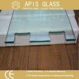 vidro endurecido desobstruído de 8mm /Tempered para a porta do chuveiro com furos do jato de Warter