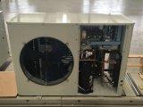 ヒートポンプの給湯装置に水をまく空気