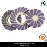 Almofadas de polonês flexíveis do assoalho da esponja da resina molhada do diamante