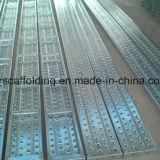 tablones del metal del andamio de la tarjeta del andamio de 240X38m m que recorren para la venta