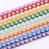 Rhinestones di plastica di 3mm che legano le catene di plastica della fascia di cristallo di Strass del branello di vetro del testo fisso del Rhinestone (TC-ss12/3mm chiaramente)