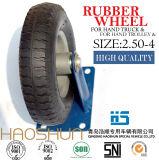 Rotella pneumatica 2.50-4 della macchina per colata continua della gomma della rotella della riga della barra del pneumatico del carrello del pneumatico del camion di mano