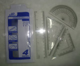 Regra de plástico de 15 cm Realeza do Escritório de Estudante no Set