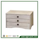 Rectángulo de joyería de madera al por mayor de calidad superior simple