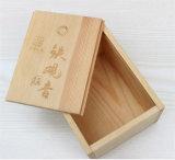 Precio de fábrica caja de madera / caja sin terminar de madera caja / de almacenamiento de madera con el logo grabado