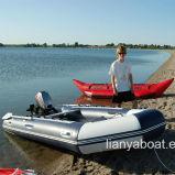Liya 6.5m aluminium de plancher gonflable vente de bateaux de sauvetage rapide