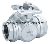3-Way Ball Valve avec ISO5211