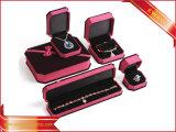 Cuadro de conjunto de joyas de terciopelo de lujo Bisutería Caja de regalo
