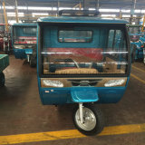 Tres triciclos eléctricos del cargo de la rueda/de la gasolina híbridos adultos con el capo motor