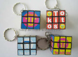 Key Chains (PM152)를 가진 Plastic&Promotional Magic Cubes
