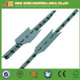 高品質の緑の塗られた柵鋼鉄金属によって散りばめられるTのポスト
