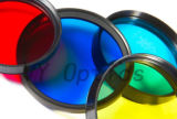 Lente óptico ineludibles de filtro de colores para el equipo fotográfico