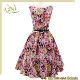 Платья девушки цветка сбывания платья печати способа для женщин