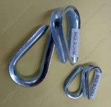 탄소 강철 Galvanzied DIN6899b 철사 밧줄 골무