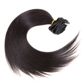 Clip Extensiones de Cabello Indian Remy cabellos lisos African American Clip en la extensión de cabello humano 1b en línea recta Clip cabello virgen Ins