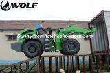 オオカミ2tのローダーWl200が付いている中国Mulcher