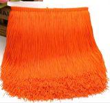 Orange doppelte Gewinde-Stärken-Nylonfranse für Tanzen-Kleid