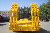 Semi-Trailer de Lowbed de 3 eixos para o transporte da construção