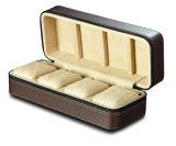 Moda nuevo estilo Cajas de reloj de cuero al por mayor con la cremallera