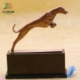 熱い販売法亜鉛合金の青銅ベース(JIABO-JB1667)が付いているカスタム動物ペット賞のトロフィ