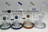 Blue Honeycomb Glass Water Pipe avec Heady Oil Rigs Pipe DAB Rig Purple Percolator Bowl Ceramic Nail