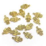 Branelli su ordinazione di Charm& di modo dei pendenti della mano placcati bronzo antico sveglio