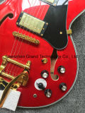 Elektrische Gitaar van de Jazz van het Systeem van Tremolo 335 Bigsby van de douane de Rode (tj-254)