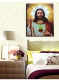 Les plus défuntes peintures à l'huile d'éclairage LED de la vente en gros 2016 sur la toile Jésus, peinture de décoration