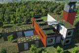 Camera prefabbricata della villa del contenitore della struttura d'acciaio del tetto piano