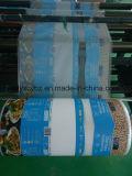 Filme laminado de plástico impresso em rolo