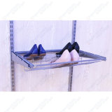 Platin-gleitene Schuh-Zahnstangen-Regale für Draht-Fach-Wandschrank
