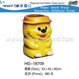 Parque de plástico balde do lixo com En840 Certificate (M11-14214)