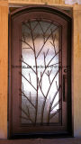 Portas individuais de ferro de luxo com vidro aberto