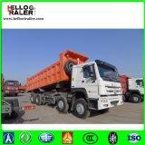 Caminhão de Wrecker resistente do caminhão de descarga do Tipper do caminhão 8 x 4 do elevador dianteiro sino