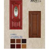 内部の現代木の機密保護のドア
