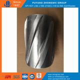Centralizador rígido sólido de alumínio e corpo com lâmina espiral