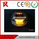 反射円形の太陽緩和されたガラスLEDの道のスタッドの舗装の道のマーカー