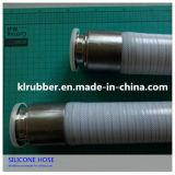 FDA certifié renforcé de fibre de qualité alimentaire tuyau flexible en silicone