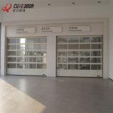 Дверь промышленной алюминиевой рамки гаража стеклянная прозрачная секционная