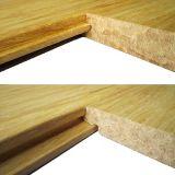 Suelo de bambú natural tejido hilo sólido de T&G