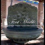 Fontana di parete di pietra di marmo verde per la mobilia Mf-1290 del giardino