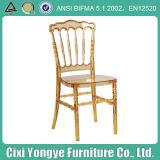 합성 수지 나폴레옹 명확한 황금 의자
